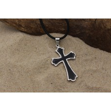 "Magnetic pendant ""black cross"""