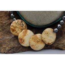 Hematite necklace with Landscape Jasper