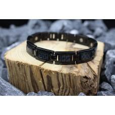 """Ceramic bracelet """"Black&Blue"""""""