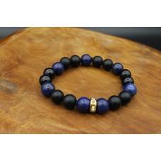 Bracelet with Onyx and Lapislazuli
