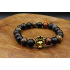 Bracelet with Onyx and Tigereye