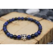 Armband mit Onyx und Lapislazuli