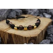 Armband mit Onyx und Rodonit