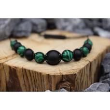 Armband mit Onyx und Malachite