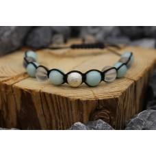 Armband mit Amazonit und Bergkristall