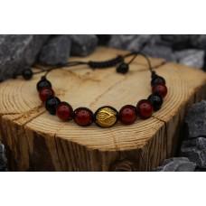 Armband mit Karneol und Onyx