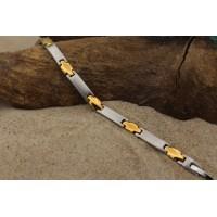 "Magnetic bracelet ""croix d'or"""