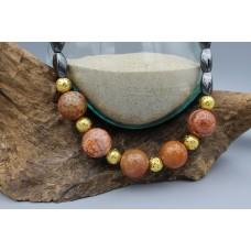 Hematite necklace with Aventurin